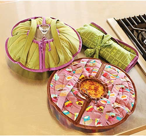 Transport your casseroles, desserts and appetizers quickly and easily with this set of carriers.