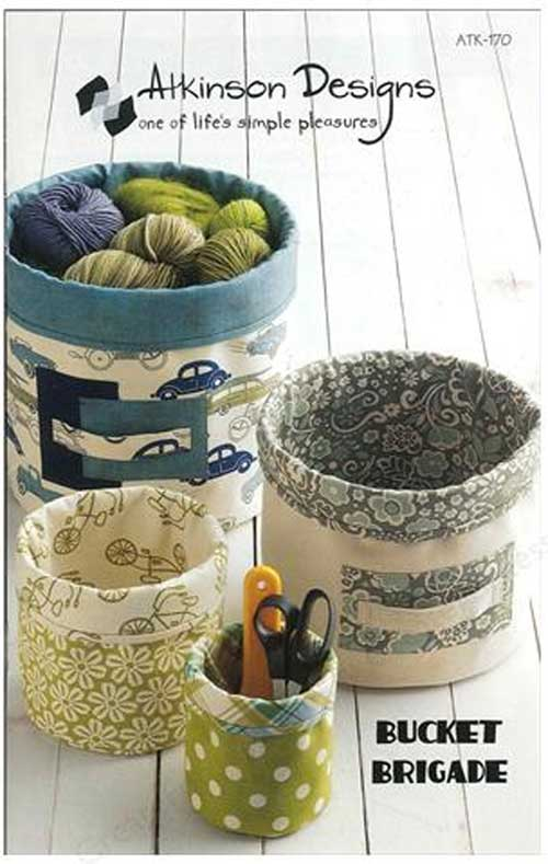 Make your own small fabric bucket storage containers that are perfect for storing and organizing small items.