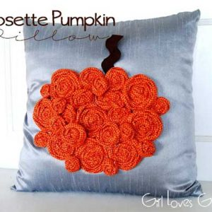 Rosette Pumpkin Pillow – Free Sewing Tutorial