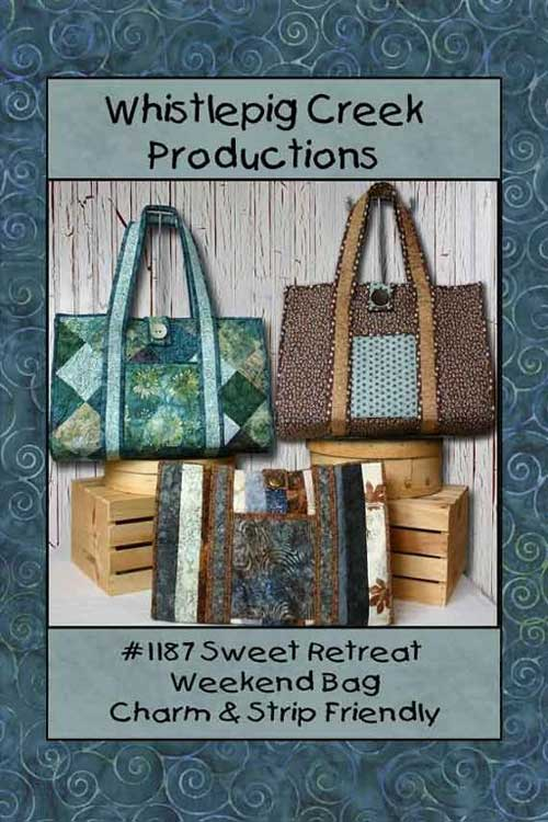 Sweet Retreat Weekend Tote Bag Pattern by Whistlepig Creek