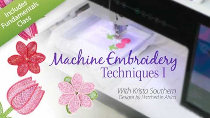 Machine Embroidery Techniques 1: Online Class