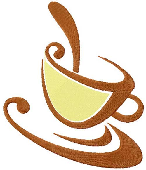 Coffee Cup - Free Embroidery Design