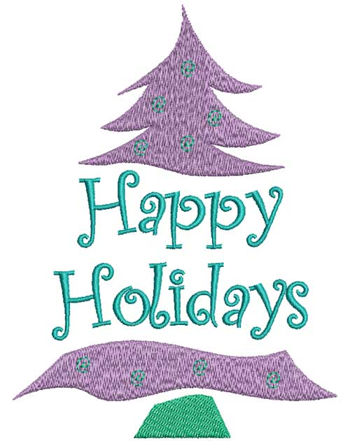 Happy Holidays Pattern - Free Embroidery Design
