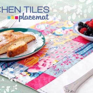 Kitchen Tiles Placemat – Free Sewing Tutorial