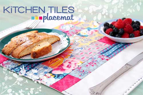 Use your favorite fabric scraps to make this easy scrappy placemat