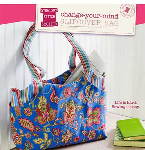 This bag is fun and easy to make, and comes with two different slipcover designs.