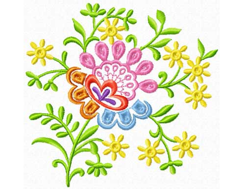 Decorative Flower - Free Embroidery Design