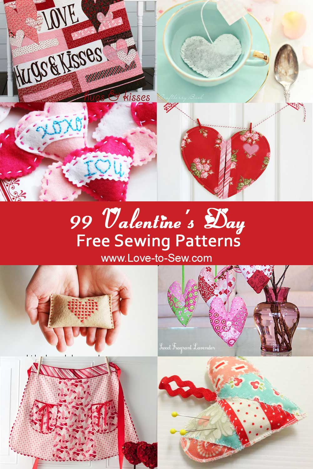99 Valentine's Day Free Sewing Patterns