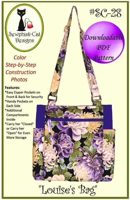 Louise's Bag is the ultimate tote with easy construction, simple zipper installation, and lots of pockets.