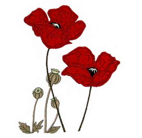 Poppies - Free Embroidery Design