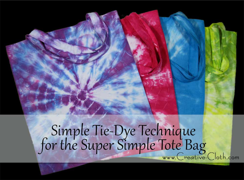 Simple Tie-Dye Technique for Simple Tote Bags