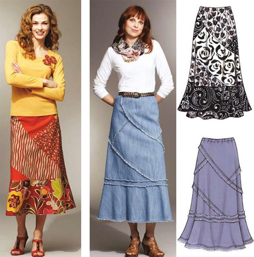 These pull-on skirts are comfortable and flattering to wear, and are fun to make.