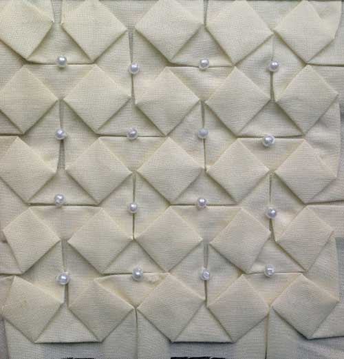 Beaded Fabric Origami - Free Sewing Tutorial