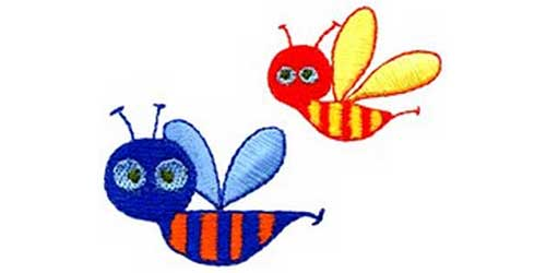 Bees - Free Embroidery Design
