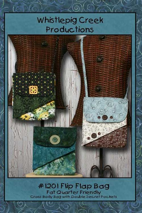 This cross body bag is the perfect design for using your favorite coordinating fat quarters.