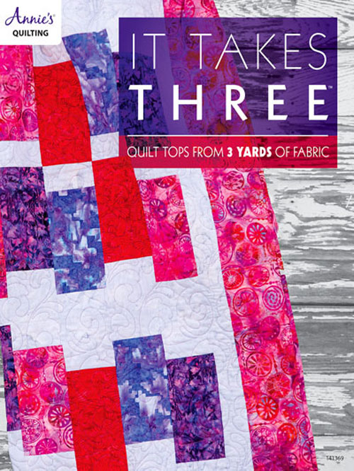 Each quilting project in this book is constructed using only 3 yards of fabric.