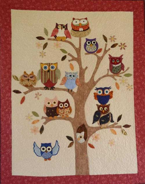 Add a bit of whimsy to your home decor with this quilted wall hanging.