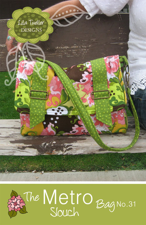 This bag is a roomy messenger style bag with lots of pockets, hardware and style.