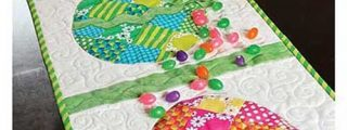 Patchwork Easter Egg Table Runner Sewing Pattern