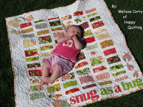 Free Quilt Pattern and Tutorial - Snug as a Bug Baby Quilt