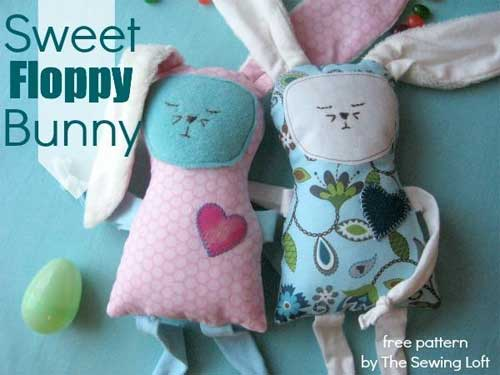 Sweet Floppy Bunny - Free Sewing Pattern