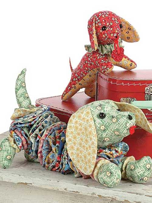 These adorable dachshunds come in two different designs and can be sewn using your favorite fun fabrics.