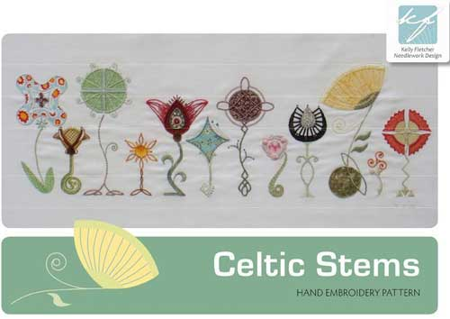 Celtic Stems Hand Embroidery Design Set
