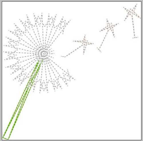 Dandelion String Art - Free Embroidery Design