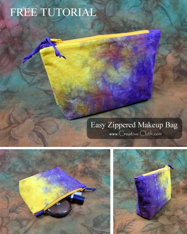 Easy Zippered Laminated Makeup Bag