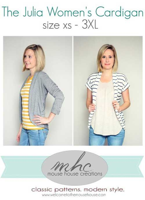 This comfortable cardigan is fast and easy to make.