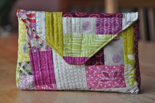 Quilt-As-You-Go Envelope Pouch – Free Sewing Tutorial