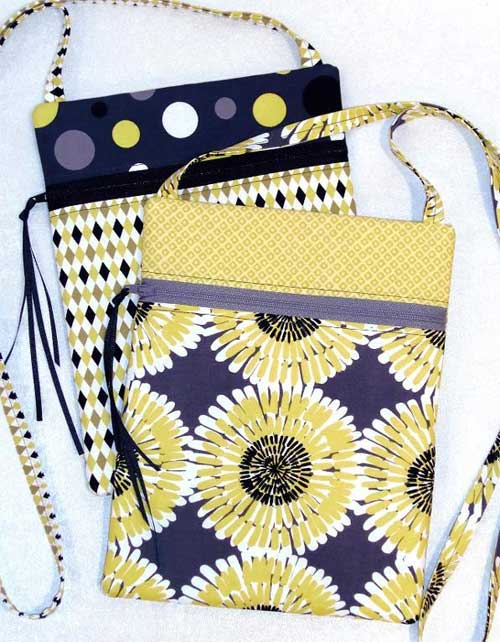This purse is smart looking, easy to make and fat quarter friendly.
