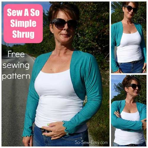 So Simple Shrug – Free Sewing Pattern