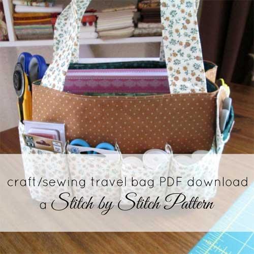 Travel Craft Bag Free Sewing Pattern Love To Sew