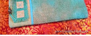 Embellished Burlap Zipper Pouch – Free Sewing Pattern