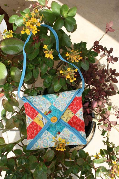 Free Sewing Tutorial - Leftover Block Envelope Bag