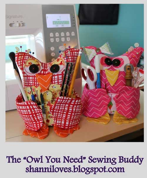 The Owl You Need Sewing Buddy - Free Sewing Pattern