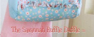 Savannah Ruffle Duffle Bag Sewing Pattern