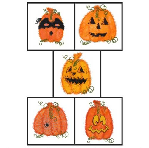 Jack-O-Lanterns Embroidery Design Set