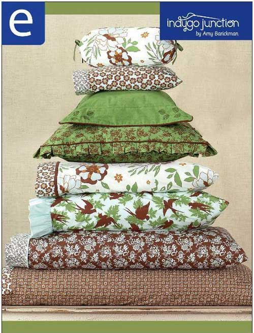 This collection of eight pillowcases features sewing techniques including ruffles, box pleats, and flange detail.