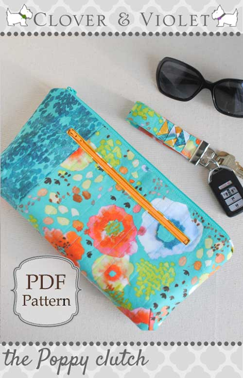 The Poppy Clutch - Free Sewing Tutorial