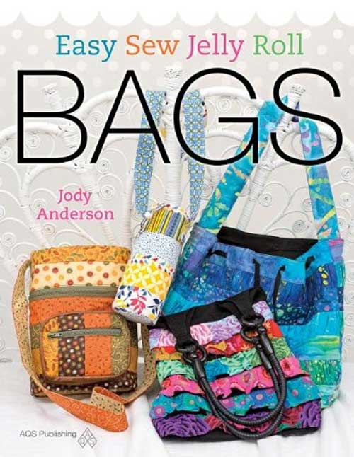 Make delightful bags from 2-1/2″ inch strips using precut strips such as Jelly Roll fabric.s