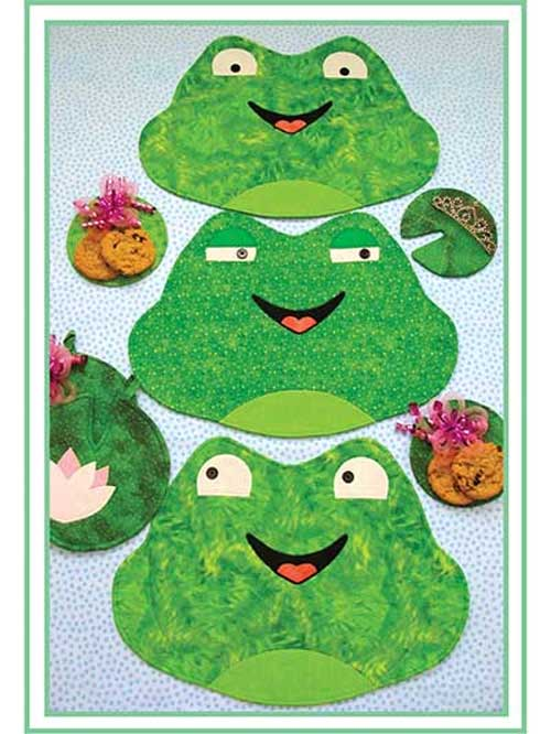 Sew a set of whimsical frog place mats for your kitchen table