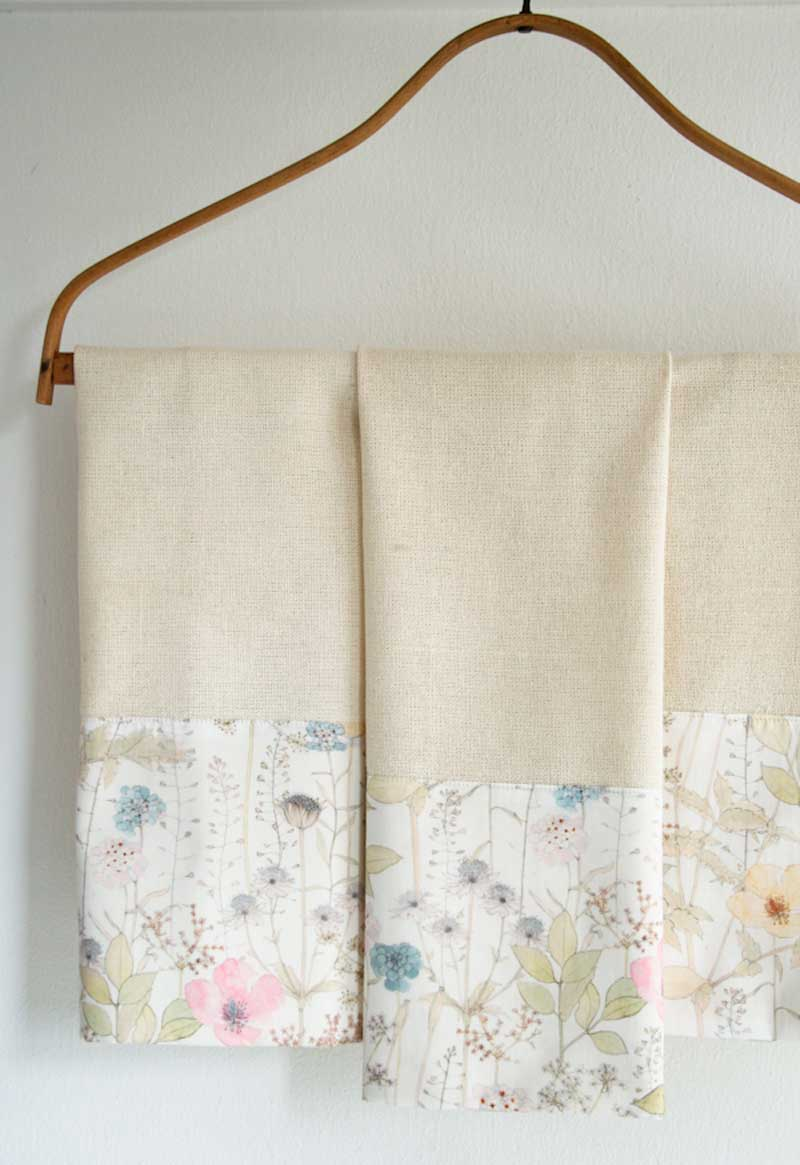 Liberty Tea Towels - Free Sewing Tutorial