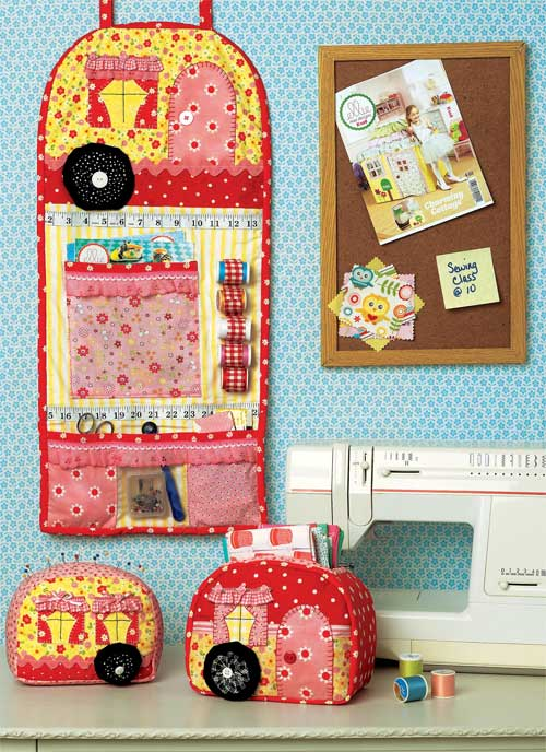Add some sweet vintage flair to your sewing room with this cute sewing pattern.