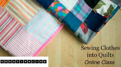 Sewing Clothes into Quilts