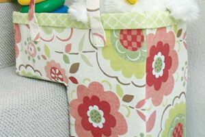 """One Trip Up"" Stair Basket Sewing Pattern"