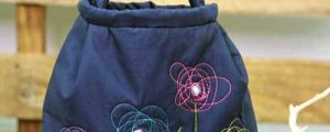 Artsy Bag with Free Motion Flowers – Free Sewing Tutorial