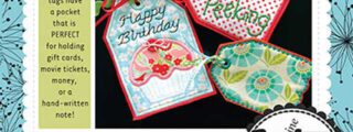 """Gift Card """"Pocket"""" Tags Embroidery CD"""