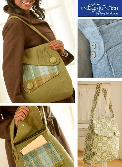 This bag has simple elegance inspired by 1940's fashions but with a modern twist.